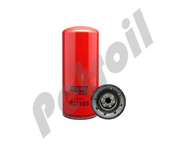 BD103 Filtro Baldwin Aceite Cummins Doble Filtracion 3318853 LF3000 51748  PSL300 P553000